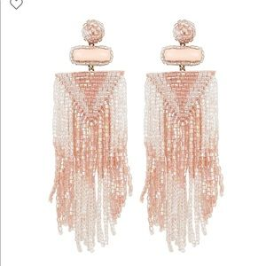 Deepa by deepa gurnani fringe earrings pink